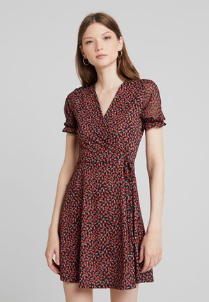 Shift dress - red/black