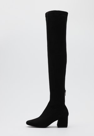 ONLBILLI LIFE LONG SHAFT HEELED BOOT  - Overknee laarzen - black
