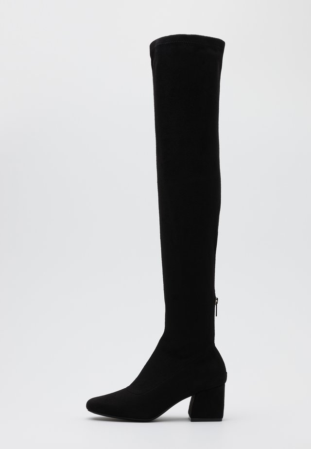 ONLBILLI LIFE LONG SHAFT HEELED BOOT  - Kozačky nad kolena - black
