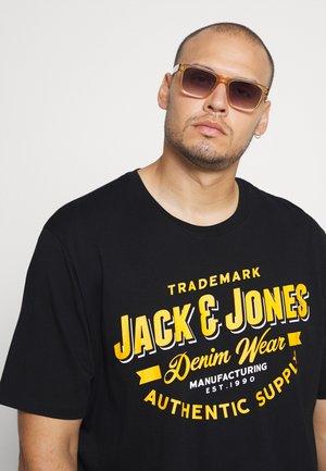 JJELOGO TEE O NECK - T-shirt print - black