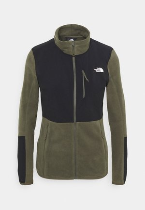 DIABLO MIDLAYER JACKET - Fleece jacket - new taupe green/black