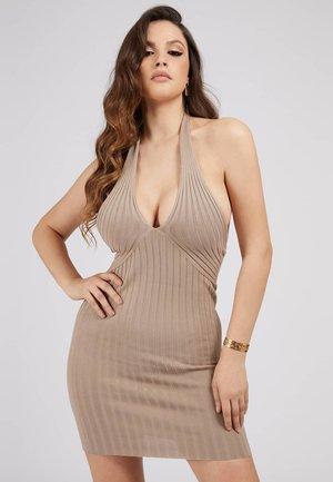ADDY CROSSED DRESS - Shift dress - beige