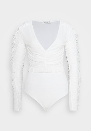 RUFFLE BODY - Topper langermet - white