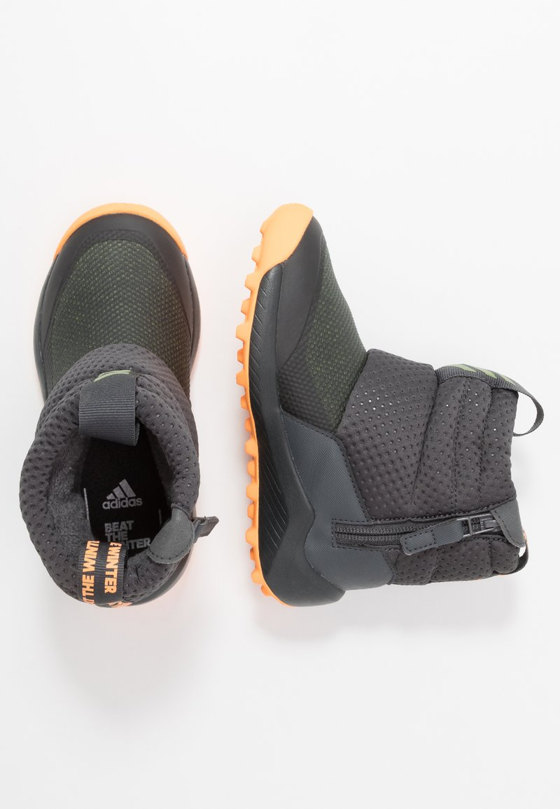adidas Performance - RAPIDASNOW - Vinterstøvler - grey six/tech olive/flash orange