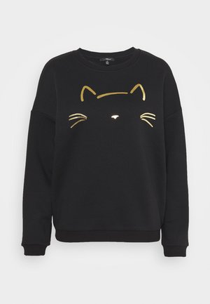 CAT PRINTED - Sweatshirt - black