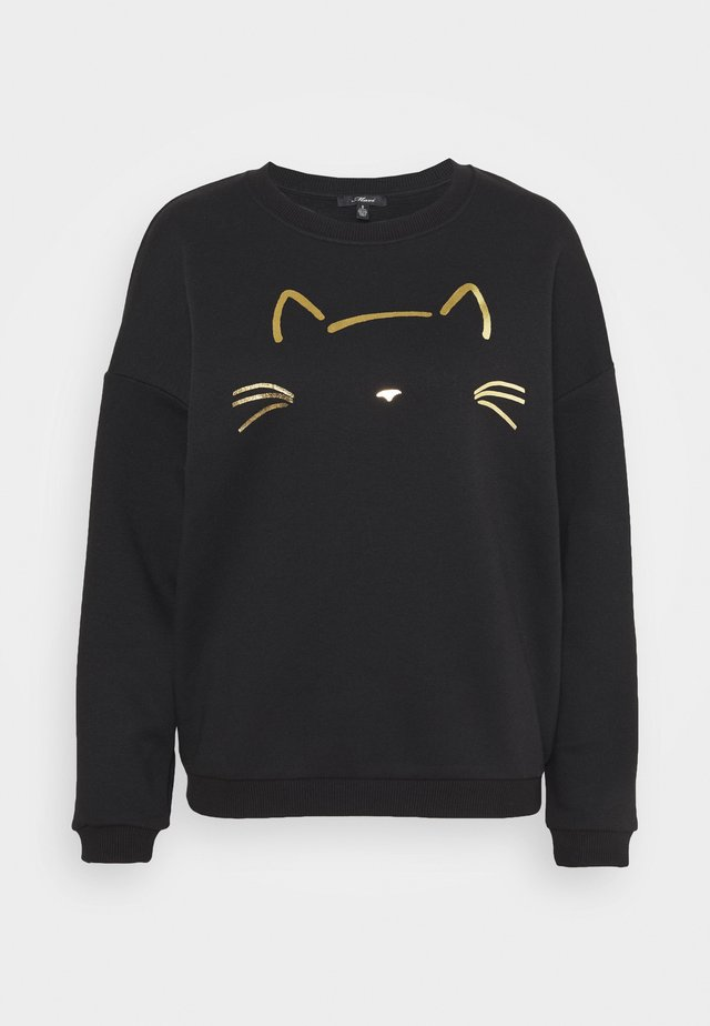 CAT PRINTED - Collegepaita - black