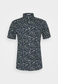 Lindbergh - FLORAL STRETCH SHIRT - Skjorta - dark blue - 4