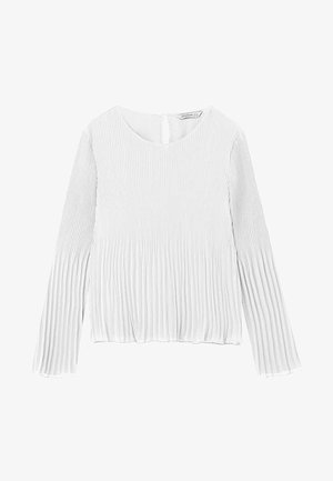 PLISSÉE - Bluse - white