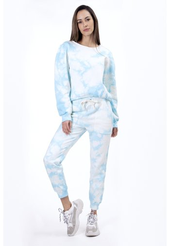 OMBRE TIE DYE - Pantalones deportivos - blue