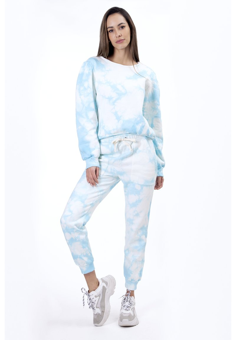 Sixty Ninety - OMBRE TIE DYE - Pantaloni sportivi - blue