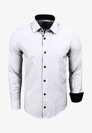 FREIZEIT-HEMD - Shirt - weiß / schwarz