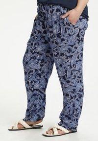 Kaffe Curve - Trousers - blue paisley print - 0