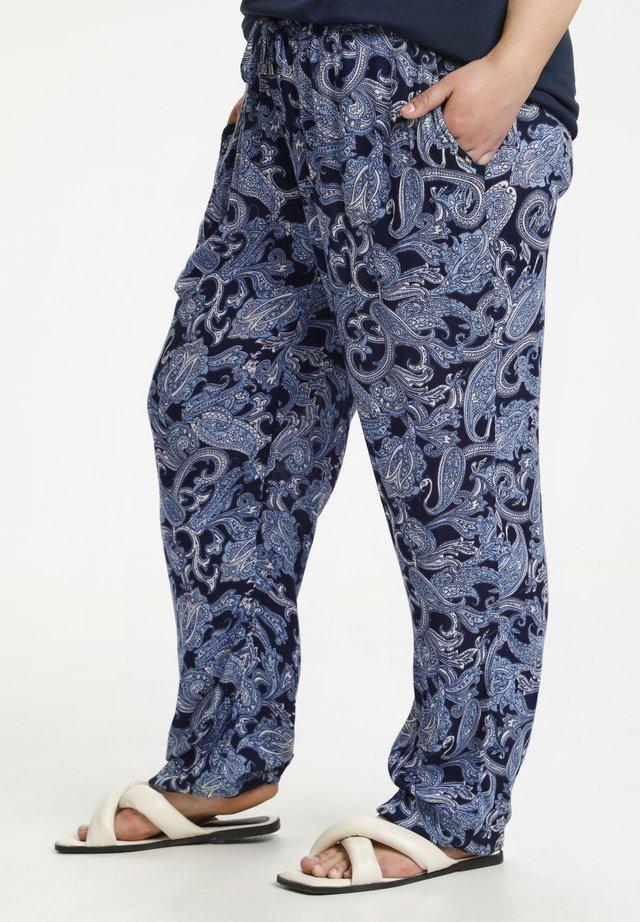 Kangashousut - blue paisley print