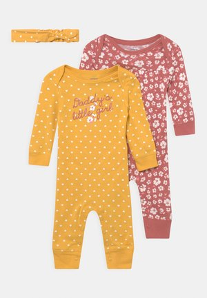 DADDYG 2 PACK - Overall / Jumpsuit - yellow/light pink