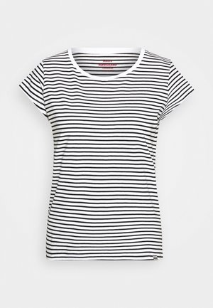 STRIPE TEASY - T-shirts med print - white/black