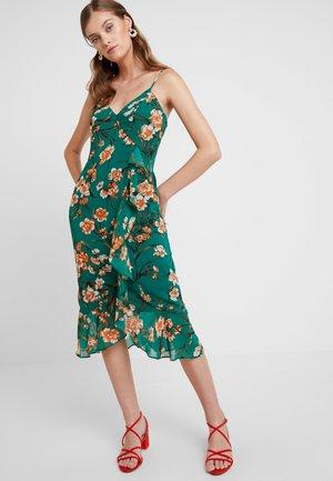 MALIKA FLORAL DRESS - Maxi dress - orange
