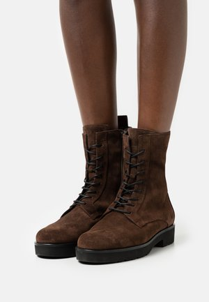 CHALLENGER - Lace-up ankle boots - darkbrown