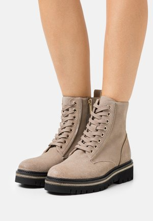 18 ZIP STREET - Lace-up ankle boots - taupe