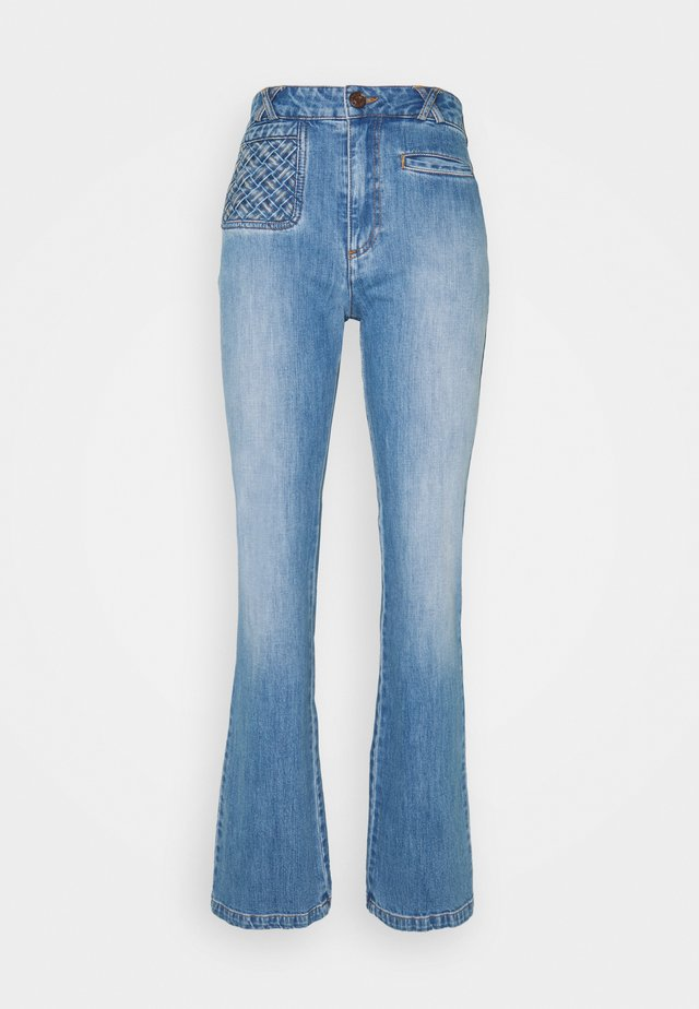 Flared Jeans - shady cobalt
