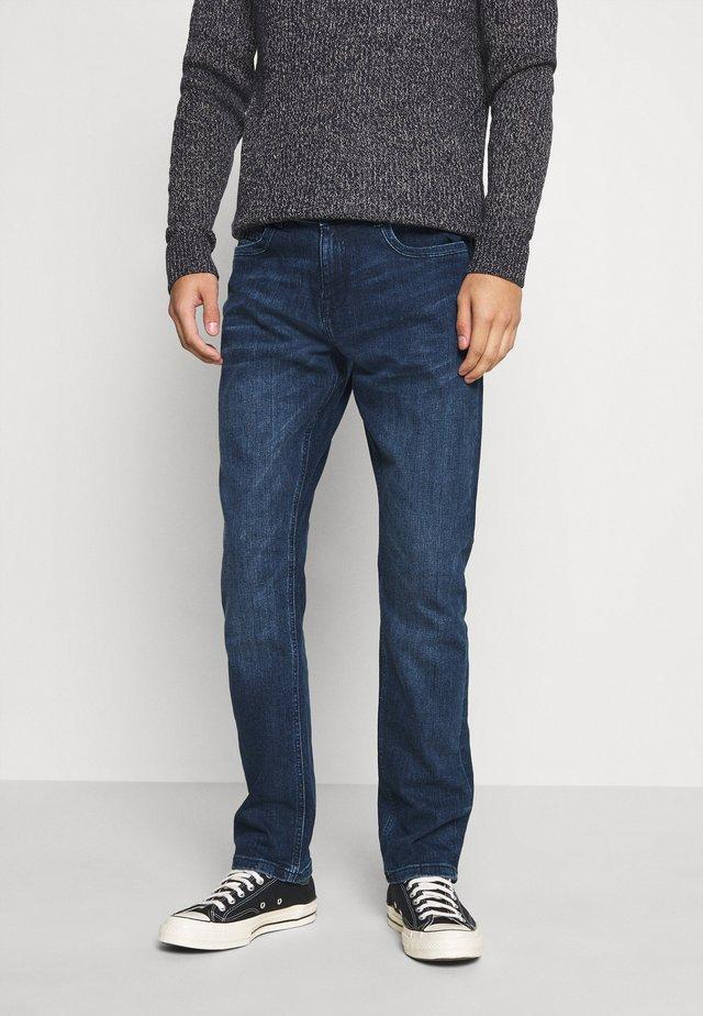 DOUGLAS - Straight leg jeans - dark used