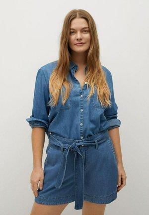 Shorts di jeans - mittelblau