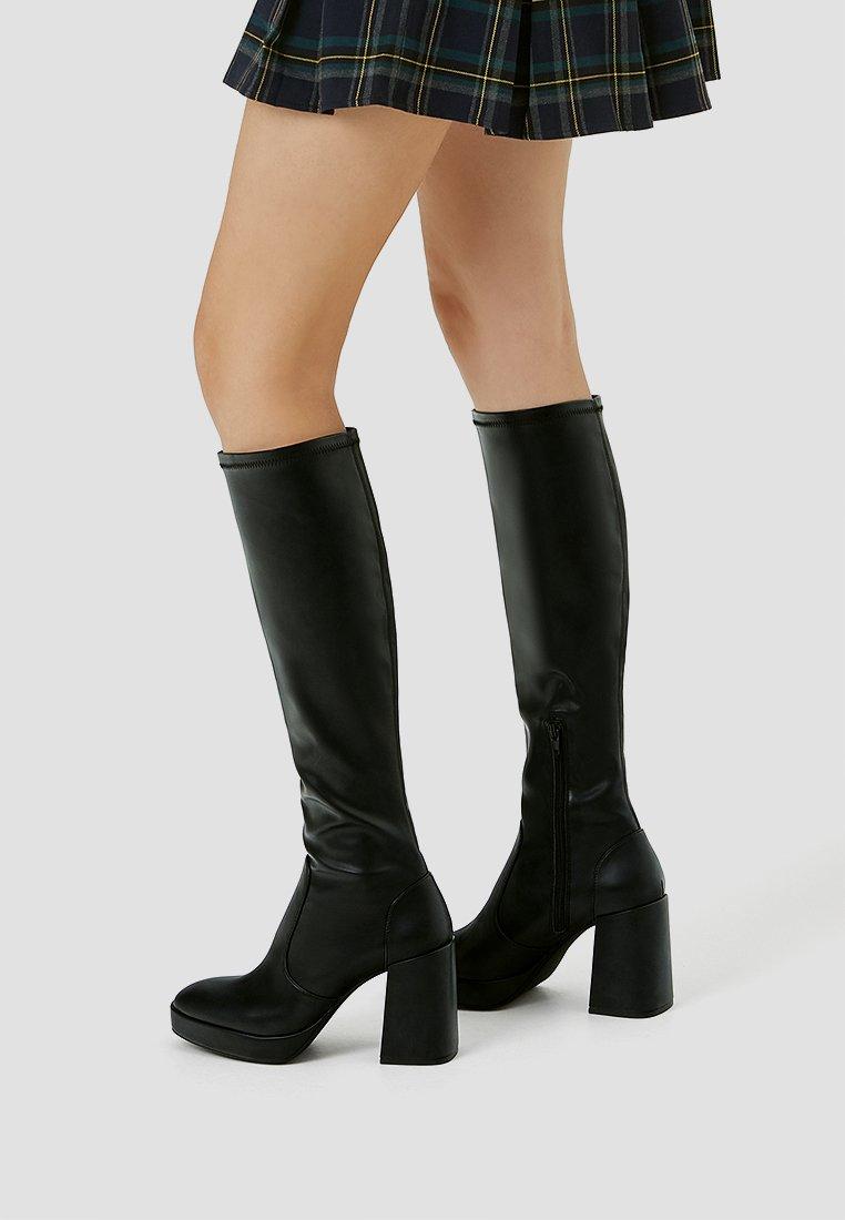 PULL&BEAR - High heeled boots - black
