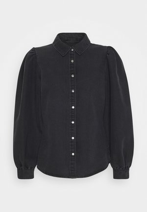 ONLROCCO LIFE - Button-down blouse - dark grey denim