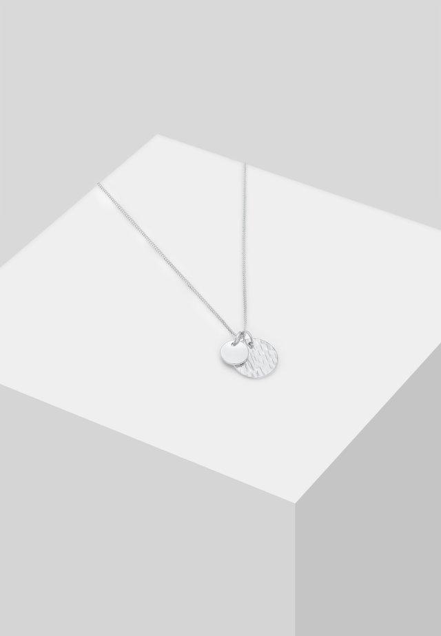 GEO GEHÄMMERT  - Necklace - silver-coloured