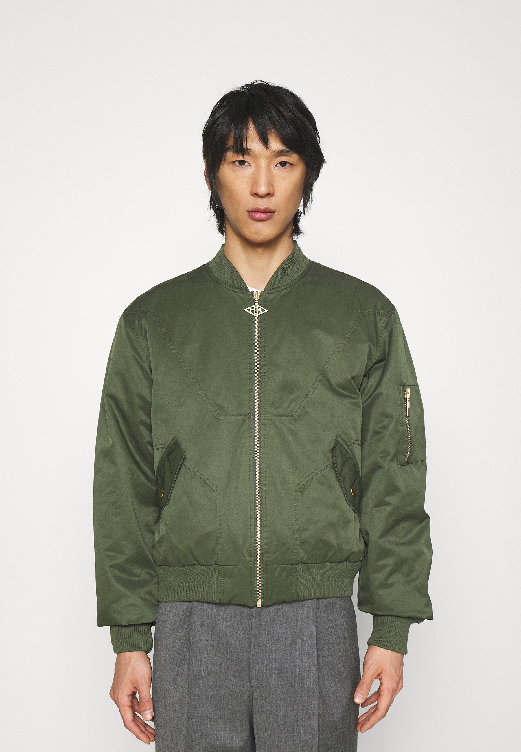 Men Bomber Jacket - green