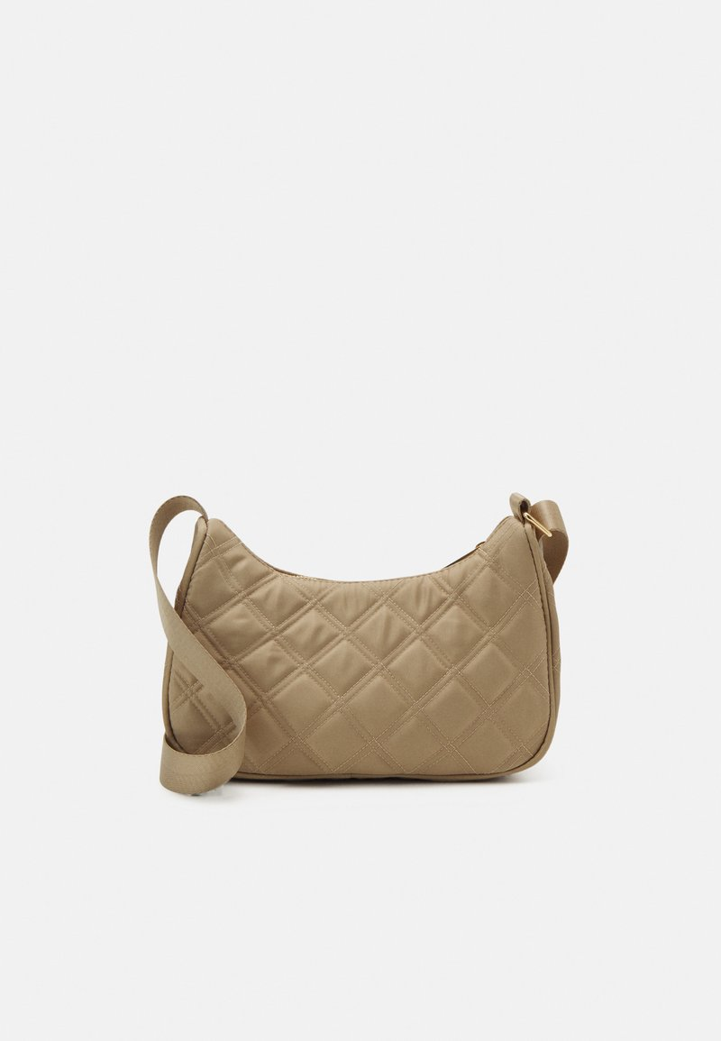 Lindex - BAG BAGUETTE QUILTED - Handväska - light beige