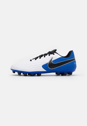 TIEMPO LEGEND 8 ACADEMY AG - Moulded stud football boots - white/black/hyper royal/metallic silver