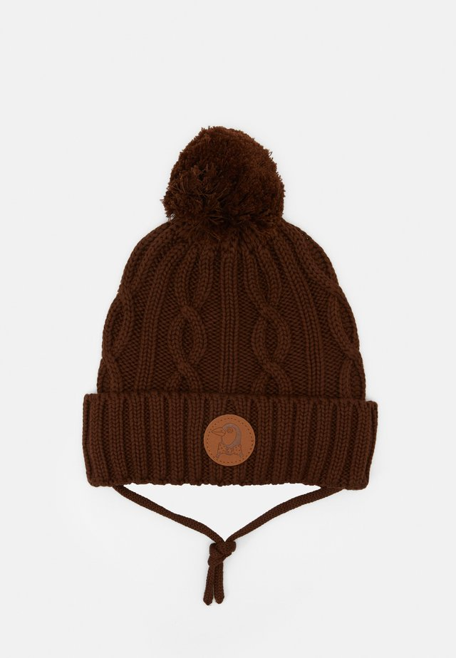 CABLE POMPOM UNISEX - Bonnet - brown