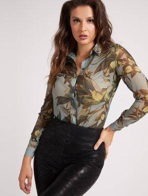 CRINKLE PRINT - Button-down blouse - gemustert multicolor
