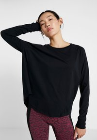 Cotton On Body - ACTIVE LONGSLEEVE  - Long sleeved top - black - 0