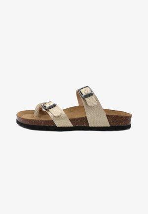T-bar sandals - dorado