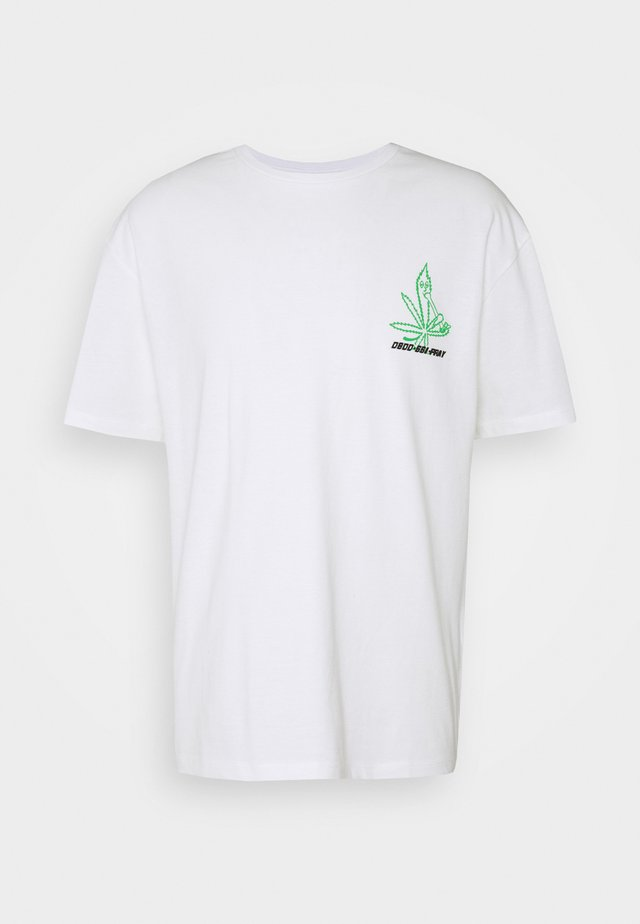 UNISEX GRASS - T-shirt print - white