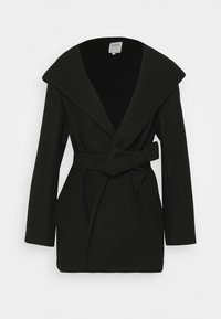 ONLY - ONLTRILLION BELT HOODIE COATIGAN - Short coat - black - 1