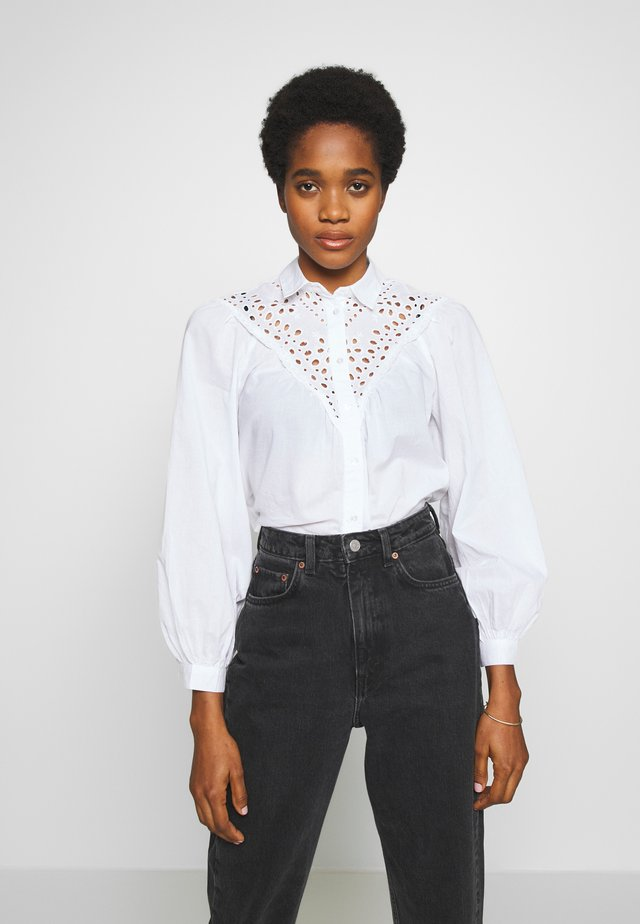 MAX CUTWORK  - Button-down blouse - white