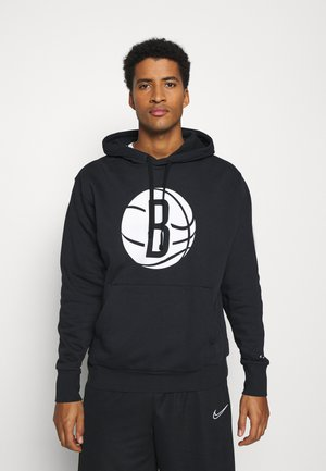 NBA BROOKLYN NETS LOGO HOODIE - Club wear - black/white