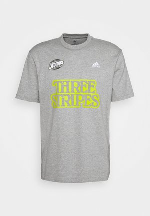 LUCKY 8 GRAPHIC - T-shirt imprimé - mottled grey