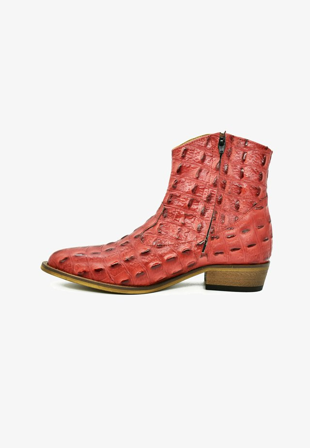 Korte laarzen - baby red croco