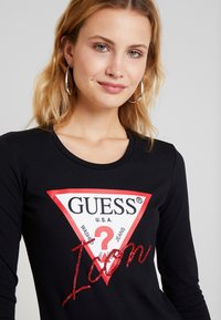 Guess - ICON TEE - T-shirt à manches longues - jet black - 4