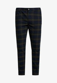 Redefined Rebel - KING PANTS - Kalhoty - dark olive check