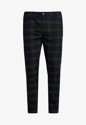KING PANTS - Pantaloni - dark olive check