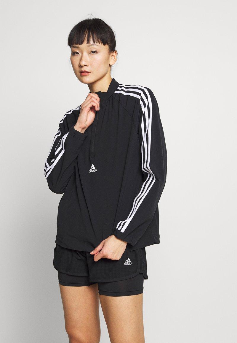 adidas Performance - WVN 3S 1/2 ZIP - Chaqueta de entrenamiento - black/white