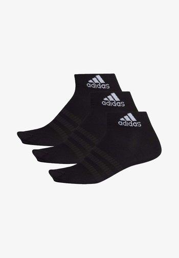LIGHT ESSENTIALS ANKLE 3 PAIR PACK - Sportssokker - black