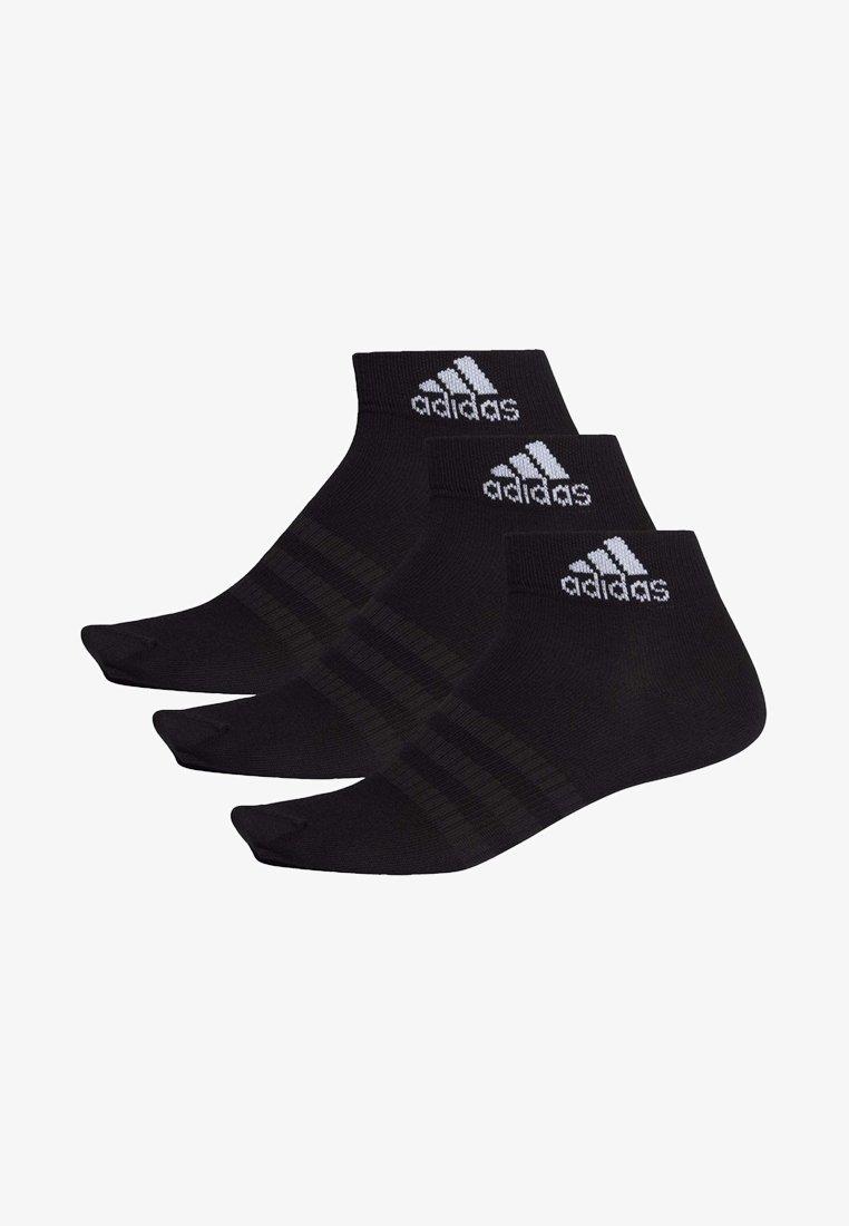 adidas Performance - LIGHT ESSENTIALS ANKLE 3 PAIR PACK - Sports socks - black