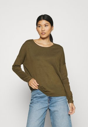 RELAXED BOAT NECK - Jumper - olive