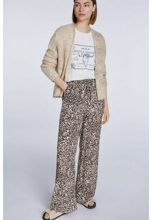 Trousers - white black
