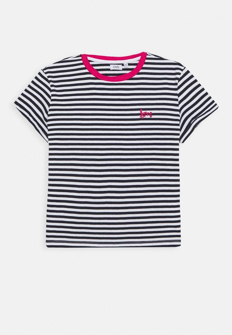 OVS - STRIPED  - T-shirt z nadrukiem - night sky